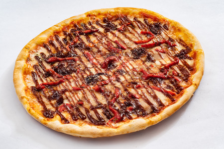 pizza with beef Stock Photo