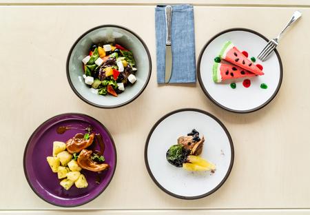 gourmet set in the restaurant Imagens