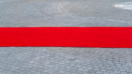 tappeto rosso all'aperto Archivio Fotografico