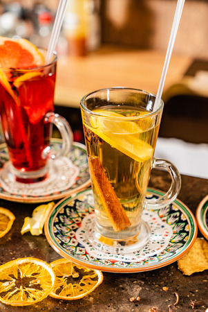 winter teas and infusions Stock Photo
