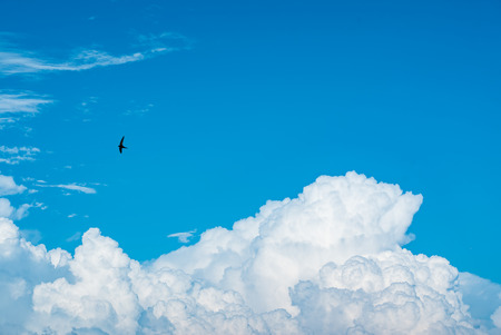 nice clouds in sky Stock Photo