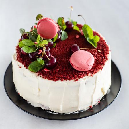 red velvet cake Archivio Fotografico