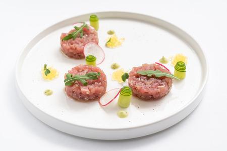 tartar with radish 写真素材