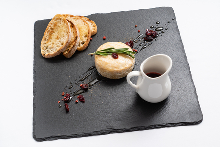 camembert with cranberry sauce Stock Photo