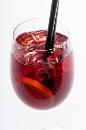 summer cocktail with fruits