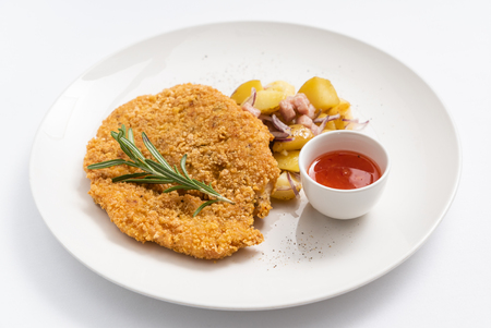 typical austrian viennese Schnitzel 版權商用圖片