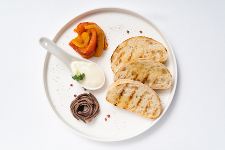 toasts with grilled vegetables