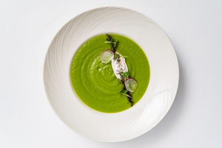 green cream soup Reklamní fotografie