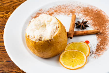 roasted pear with spices