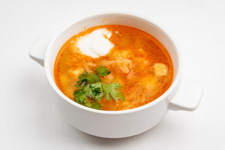 cabbage soup with sour cream 版權商用圖片