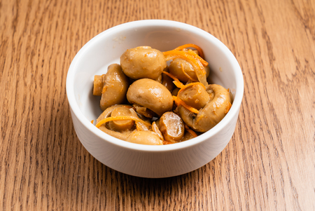 pickled mushrooms with spice Banco de Imagens