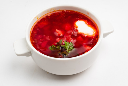 traditional soup with beetroot Stock fotó