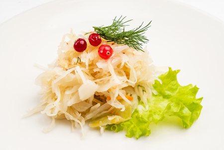 salad sauerkraut with cranberries