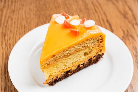 slice of caramel cake Zdjęcie Seryjne