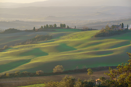 beautiful Tuscany landscape Stock Photo