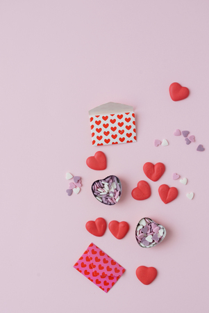 sugar hearts and envelops with hearts