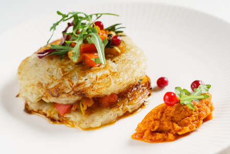 potato pancakes with vegetables Imagens - 115020315