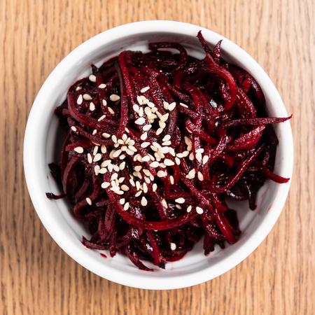 beetroot salad with sesame seeds