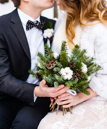Beautiful wedding couple 版權商用圖片