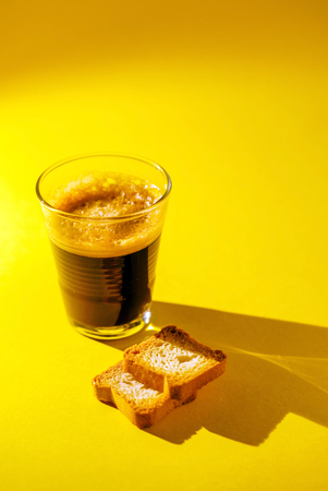 coffee with toasts