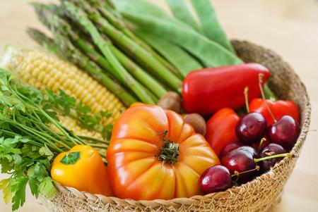 fresh vegetables in the basket 写真素材