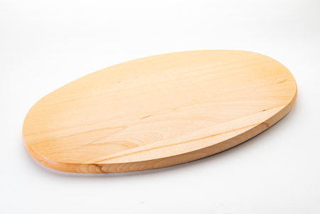 wooden cutting board, top view, isolated Reklamní fotografie