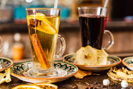 winter teas and infusions 写真素材
