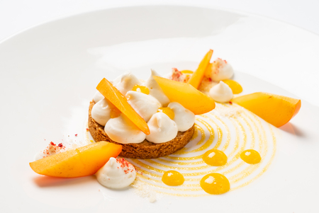 persimmon and meringue tart
