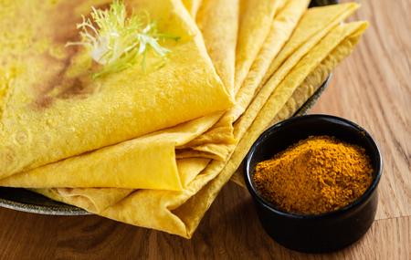 pita bread with spice