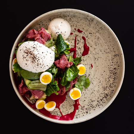 gourmet salad with mozzarella 스톡 콘텐츠 - 116103142