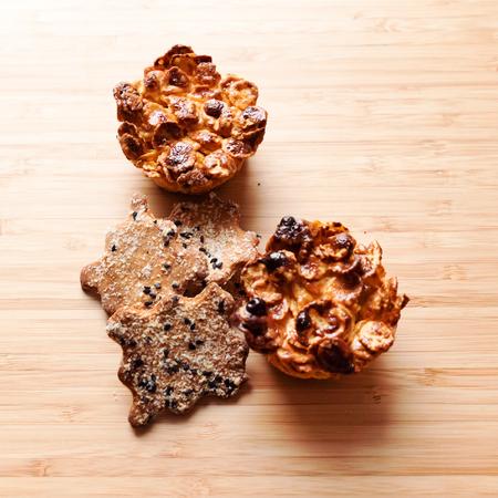 Gluten free cookies on the wooden Banco de Imagens