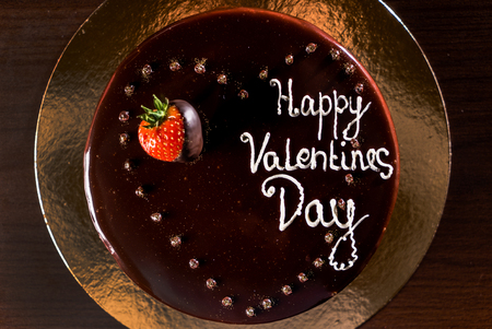 Cake for Valentine day Stock Photo