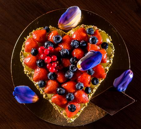 Cake for Valentine day Stockfoto
