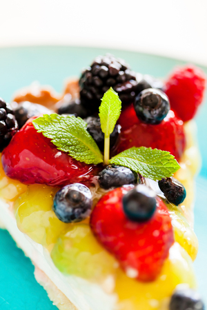 Cake with fresh berries 写真素材