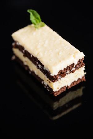 Vegan pastry on the black