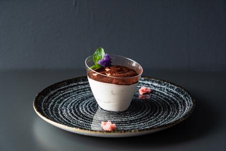 Classic tiramisu in a glass