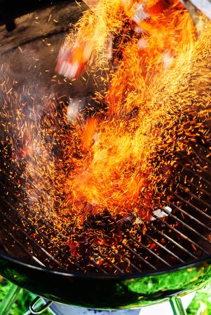 Burning coals of wood