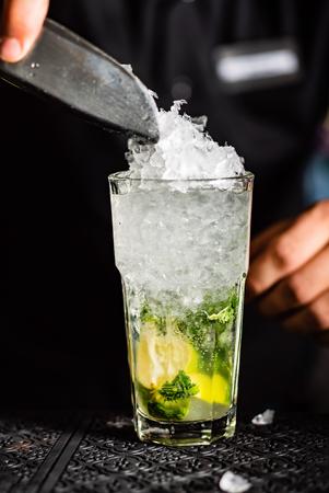 Cocktail in the bar Reklamní fotografie - 117677556