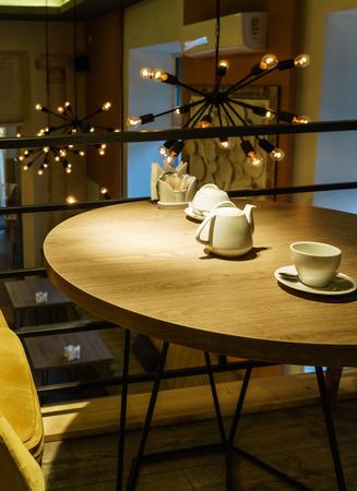 interior of modern cafe