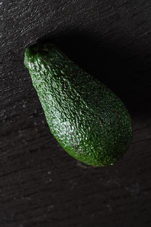 avocado on the black background