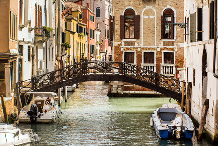 green canal in the Venice, Italy