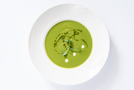 broccoli cream soup, top view