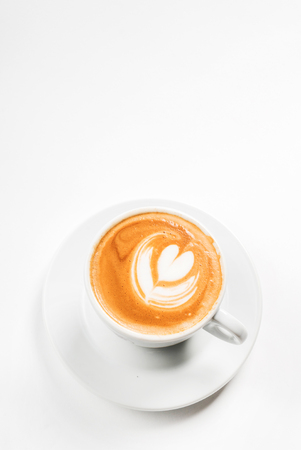Latte with Heart Design Stock Photo