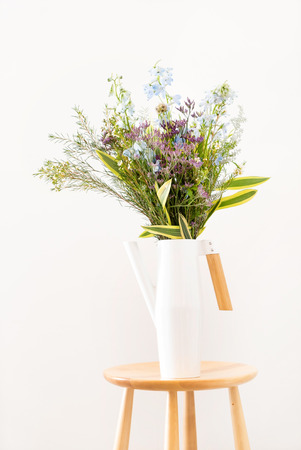nice spring flower bouquet on the white background