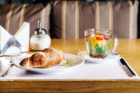 breakfast in the cafe 版權商用圖片