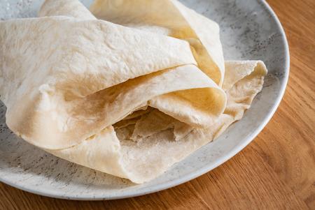 Lavash (soft, thin unleavened flatbread)