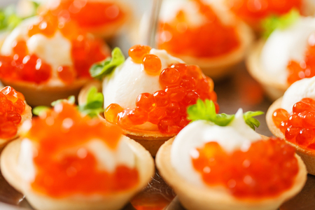 canape with caviar 스톡 콘텐츠 - 121466467