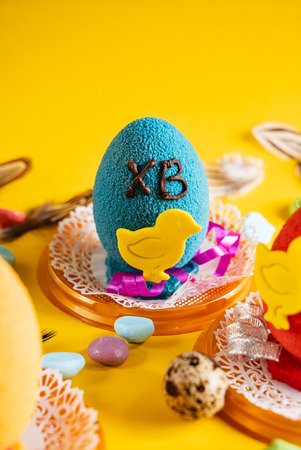Easter pastry with decoration