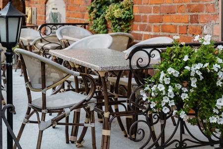 outdoor cafe in the Vilnius
