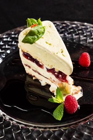 Semifredo. Italian dessert. Stock Photo